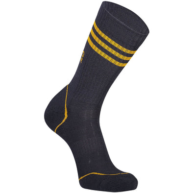 Mons Royale Mens Signature Crew Sock - 9 Iron/Gold