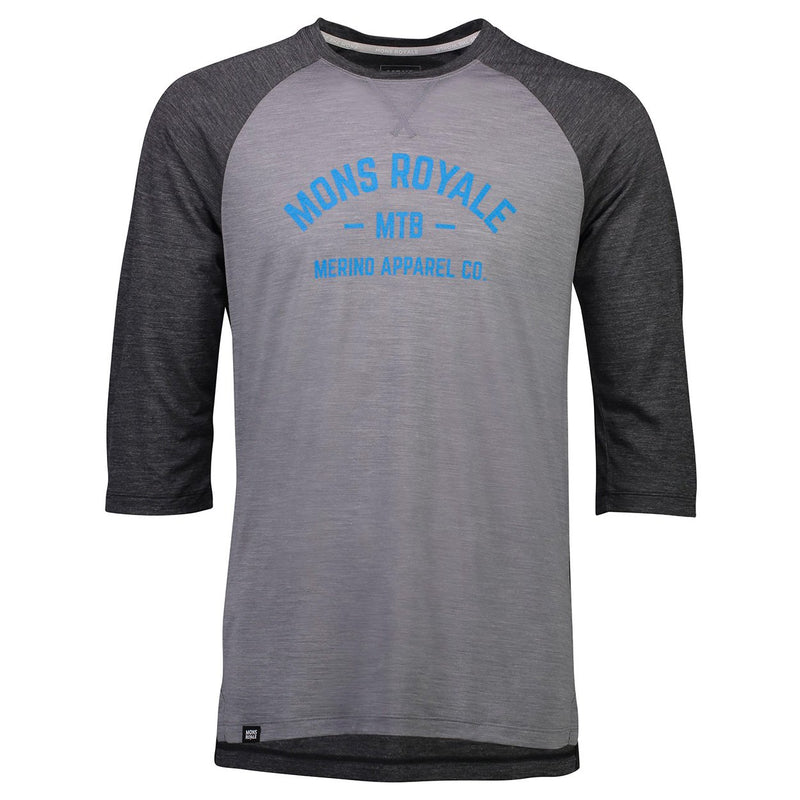 ${brand_name} Mons Royale Mens Vapour Lite 3/4 Smoke/Grey Smoke / Grey / XL {product_type}