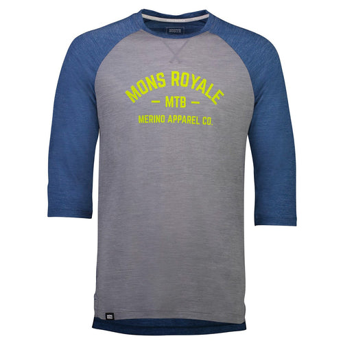 ${brand_name} Mons Royale Mens Vapour Lite 3/4 Oily Blue/Grey Oily Blue / Grey / XL {product_type}