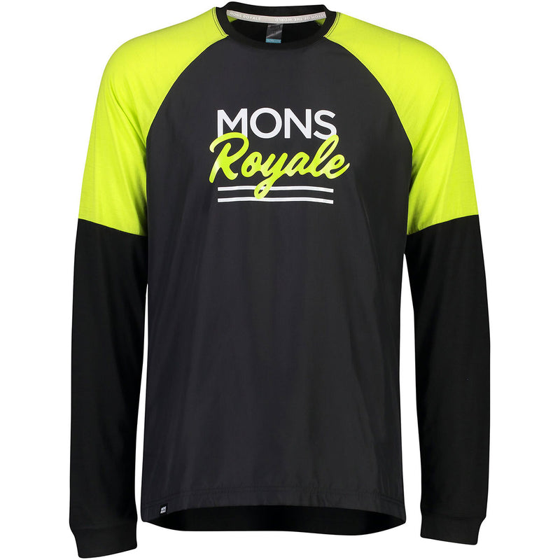 Tarn Freeride LS Wind Jersey - Black/Sonic Lime