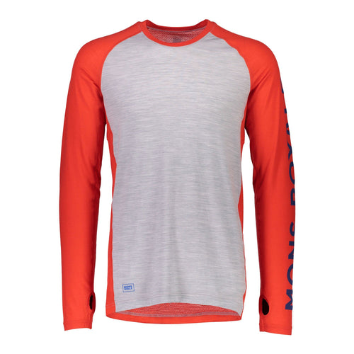 Temple Tech LS - Bright Red / Grey Marl // Futureproof.life
