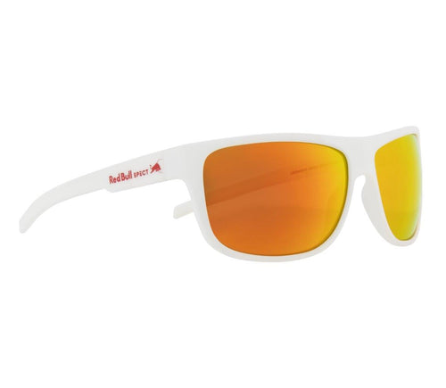 Red Bull SPECT Loom Sunglasses White/Brown with Red Mirror Polarised - futureproof-life