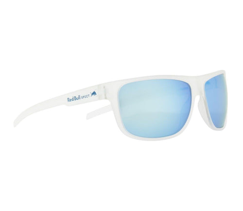 Red Bull SPECT Loom Sunglasses X'tal Clear/Smoke with Ice Blue Mirror Polarised - futureproof-life