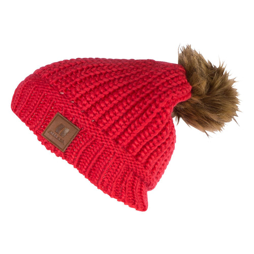 Armada Lux Beanie - Hot Coral - Front View