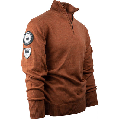 Amundsen Peak Half Zip Mens Sweater - Rustic Brown