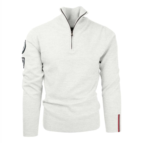 Amundsen Peak Half Zip Oatmeal Sweater Mens - futureproof-life