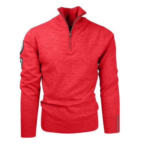 Amundsen Peak Half Zip Weathered Red Sweater Mens - futureproof-life