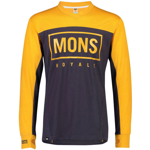Mons Royale VLS Jersey - Gold/ 9 Iron