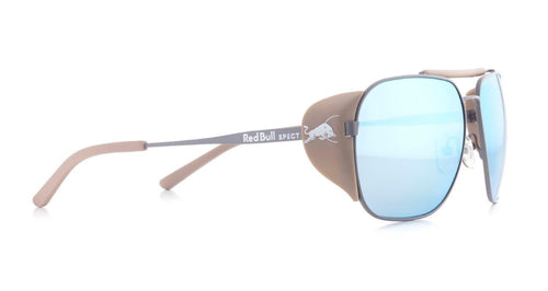Red Bull SPECT Pikespeak Sunglasses Light Grey/Brown Gradient with Light Blue Mirror Polarised - futureproof-life