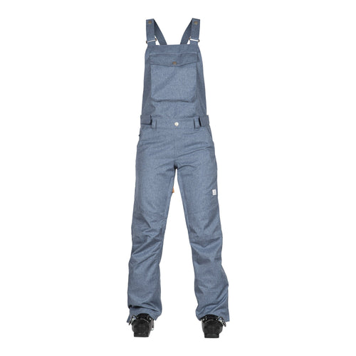 Wear Colour Ride Bib Pant - Denim Blue - Front View