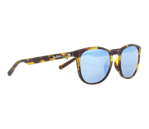 Red Bull SPECT Steady Sunglasses Havanna/Smoke with Blue Mirror Polarised - futureproof-life