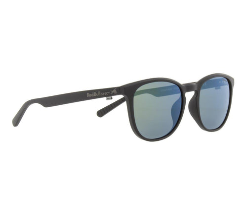Red Bull SPECT Steady Sunglasses Black/Smoke with Green Mirror Polarised - futureproof-life