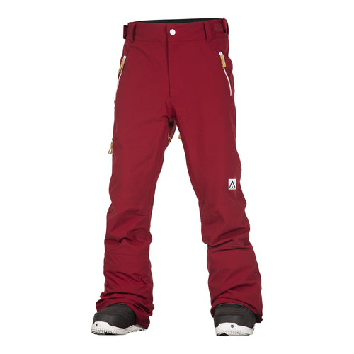 Wear Colour Sharp Pant - Burgundy - Front View