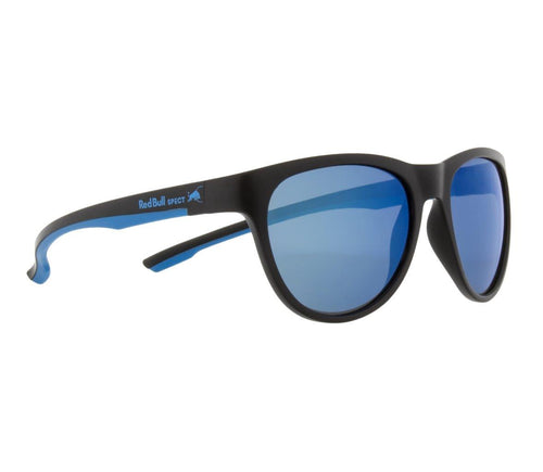 Red Bull SPECT Spin Sunglasses Black/Blue/Smoke with Blue Mirror Polarised - futureproof-life