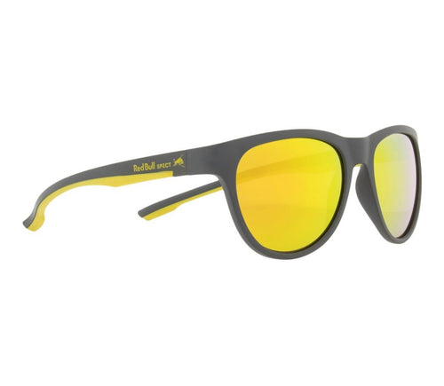Red Bull SPECT Spin Sunglasses Dark Grey/Yellow/Brown with Yellow Mirror Polarised - futureproof-life