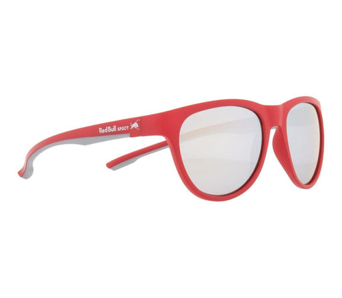 Red Bull SPECT Spin Sunglasses Red/Silver/Smoke with Silver Mirror Polarised - futureproof-life