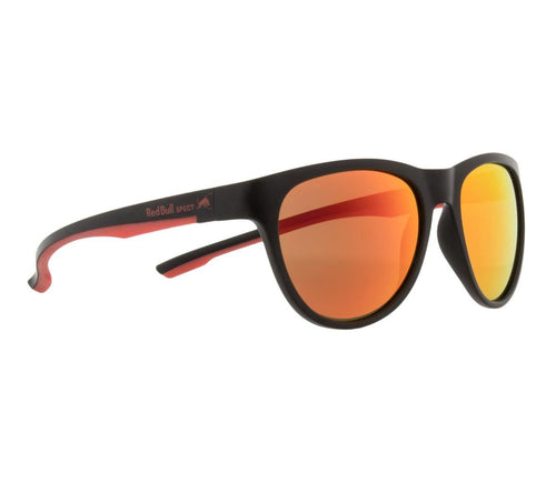 Red Bull SPECT Spin Sunglasses Black/Red/Brown with Red Mirror Polarised - futureproof-life