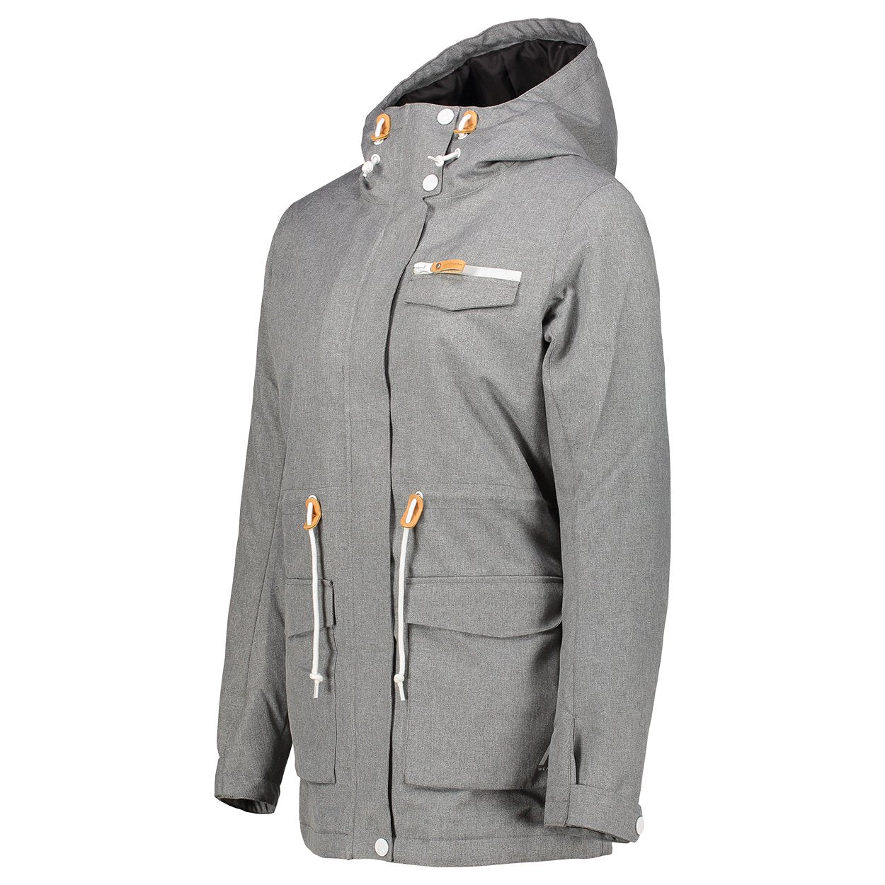 Wear Colour Womens Insulated State Parka - Grey Melange – Futureproof.life 4197f2735