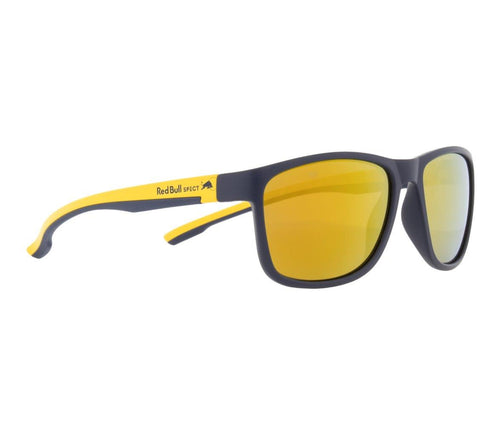 Red Bull SPECT Twist Sunglasses Matt Dark Blue/Matt Yellow with Gold Mirror Polarised - futureproof-life