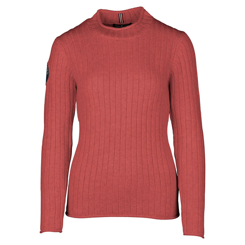 Amundsen Roalda Roll Neck Weathered Red Sweater Womens - futureproof-life