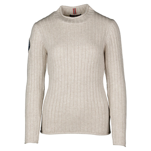 Amundsen Roalda Roll Neck Oatmeal Sweater Womens - futureproof-life