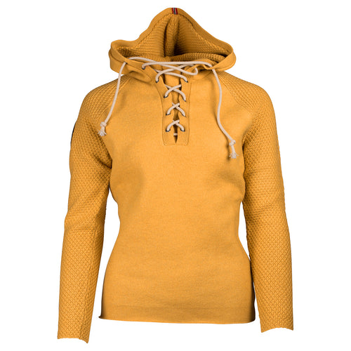 Amundsen Boiled Hoodie Laced Yellow Haze Sweater Womens - futureproof-life