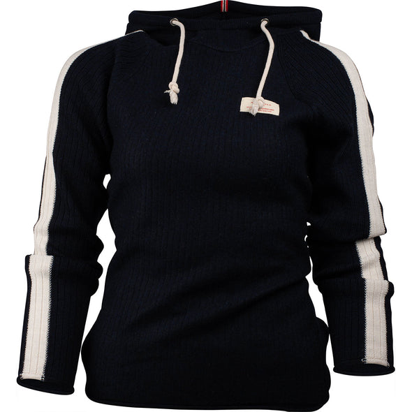 Women's Amundsen Boiled Hoodie Stripes - Faded Navy