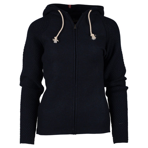 Amundsen Sports Womens Boiled Wool Hoodie Jacket  - Faded Navy // Futureproof.life // 383