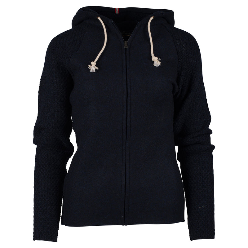 Amundsen Boiled Hoodie Jacket Faded Navy Womens - futureproof-life