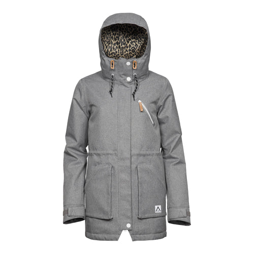 Wear Colour WEAR Parka - Grey Melange - Front View