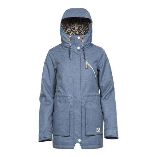 Wear Colour WEAR Parka - Denim Blue - Front View