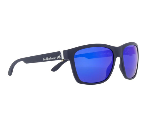 Red Bull SPECT WING 2 Sunglasses Matt Dark Blue/Smoke with Purple Mirror Polarised - futureproof-life