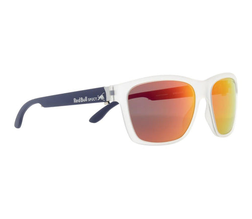 Red Bull SPECT WING 2 Sunglasses Matt Transparent White/Smoke w/Red Revo Polarised - futureproof-life