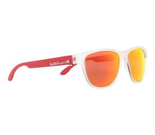 Red Bull SPECT WING 3 Sunglasses Matt Transparent/Smoke with Red Mirror Polarised - futureproof-life