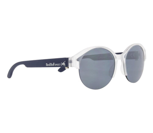 Red Bull SPECT WING 5 Sunglasses X'tal Clear/Blue with Silver Flash Polarised - futureproof-life