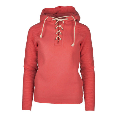 BOILED HOODIE LACED WOMENS - Weathered Red