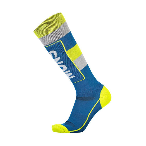 Mons Tech Cushion Sock - Oily Blue / Grey / Citrus - S - FW1920 - futureproof-life