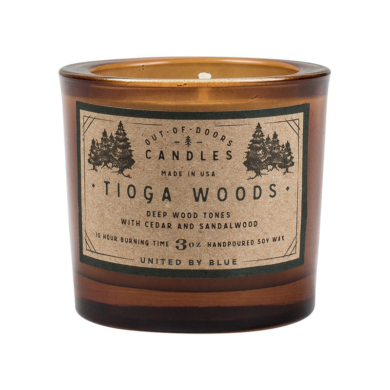 Out-Of-Doors 3Oz Candle - Tioga Woods // Futureproof.life