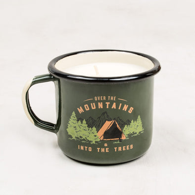 United By Blue, Into The Trees Enamel Candle Mug - futureproof-life