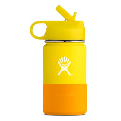 Hydro Flask 12 oz Kids Wide Mouth with Straw Lid in Lemon - futureproof-life