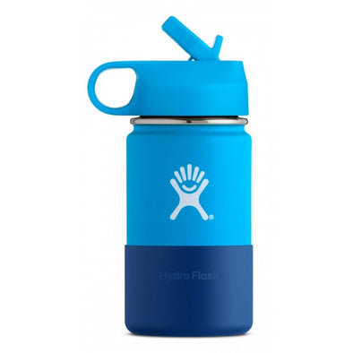 Hydro Flask 12 oz Kids Wide Mouth with Straw Lid in Pacific - futureproof-life