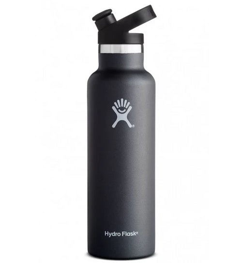 ${brand_name} Hydro Flask 21 oz Standard Mouth with Sports Cap in Black Black {product_type}