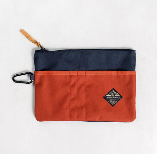 United By Blue Niel Pouch Case Navy/Rust - futureproof-life