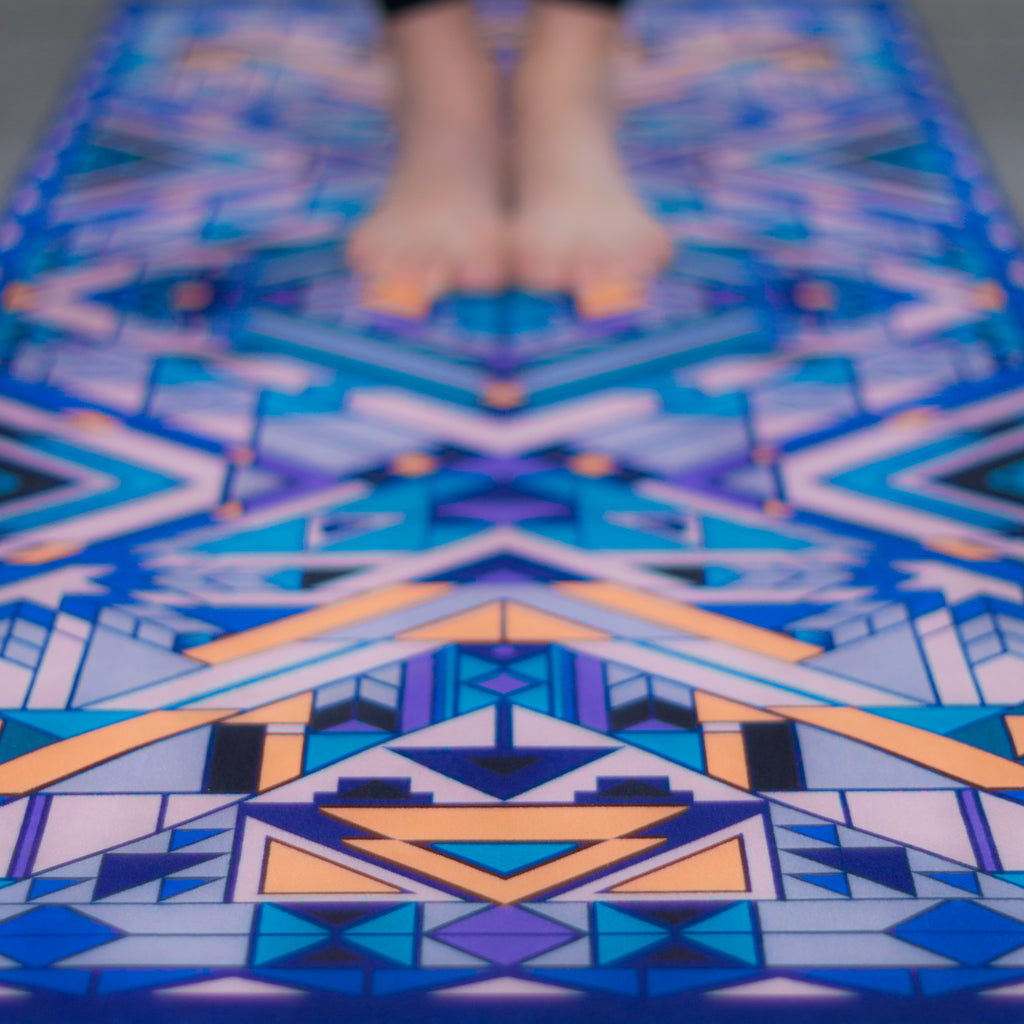 'Sacred Symmetry' Premium Travel Yoga Mat