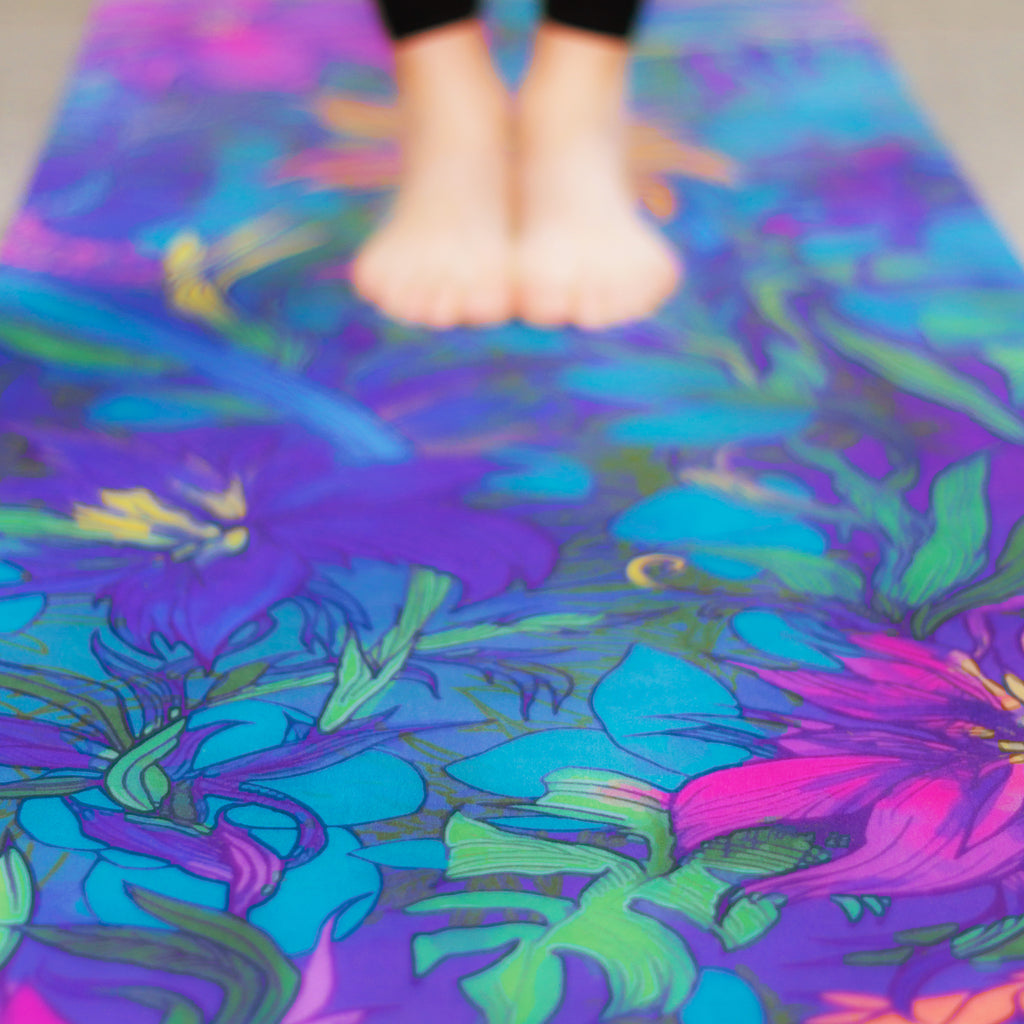 'Midnight Bloom' Premium Travel Yoga Mat