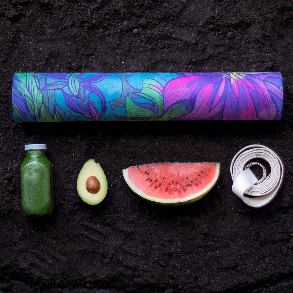 'Midnight Bloom' Premium Studio Yoga Mat