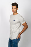 Camiseta The Button. Gris / Azul