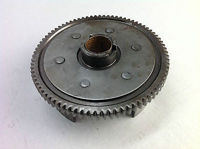 1982 KAWASAKI KX80 KX 80 CLUTCH BASKET AND GEAR  (007)