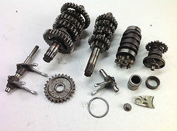 1988 YAMAHA YZ125 YZ 125 ASSORTED GEARBOX PARTS  DRUM SELECTOR FORKS  1LX  (009)