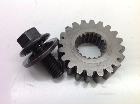 HONDA CR 125 2004 PRIMARY DRIVE CRANK GEAR & BOLT 0013A